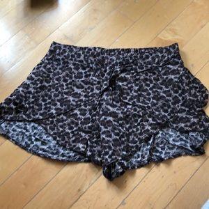 Free People Shorts - Free People Leopard Cross Shorts Size M